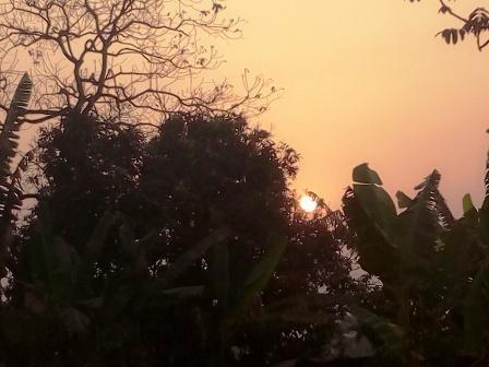 Levée du Soleil depuis Mbouo